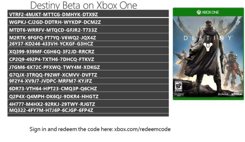 Destiny the Game Beta Xbox One Early Release Codes by Larry Hurb