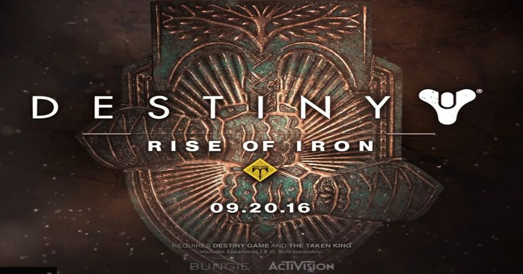 Destiny Rise of Iron DLC Date Reveal 1200x628px