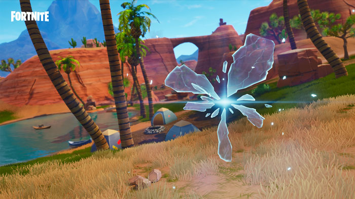 A Fortnite Rift in the Season Five from Paradise Palms