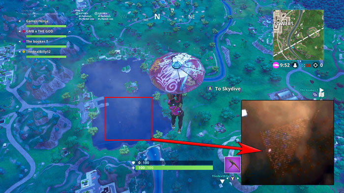 Hidden Pyramid in Loot Lake Overview Inferred