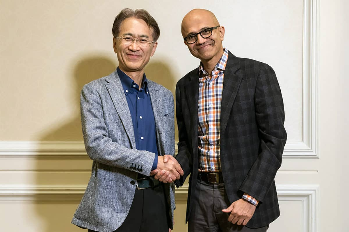 Chief Executive Officer Satya Nadella Sony Corp CEO Kenichiro Yoshida Partnership Gamer Ninja 1200x628