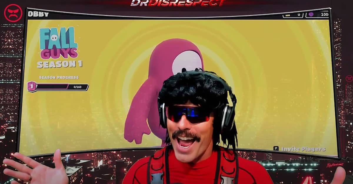 Dr DisRespect Plays Fall Guy Gamer Ninja