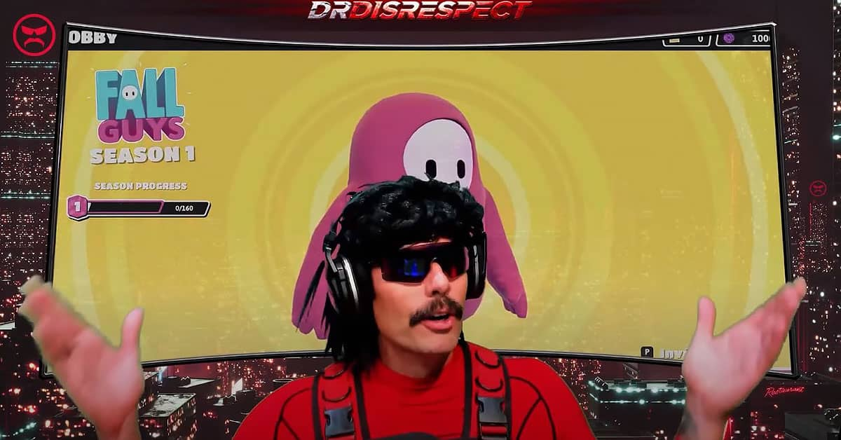 Dr DisRespect Plays New Battle Royale Game Fall Guy Gamer Ninja