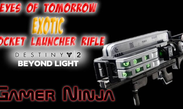 Eyes of Tomorrow Exotic Rocket Launcher