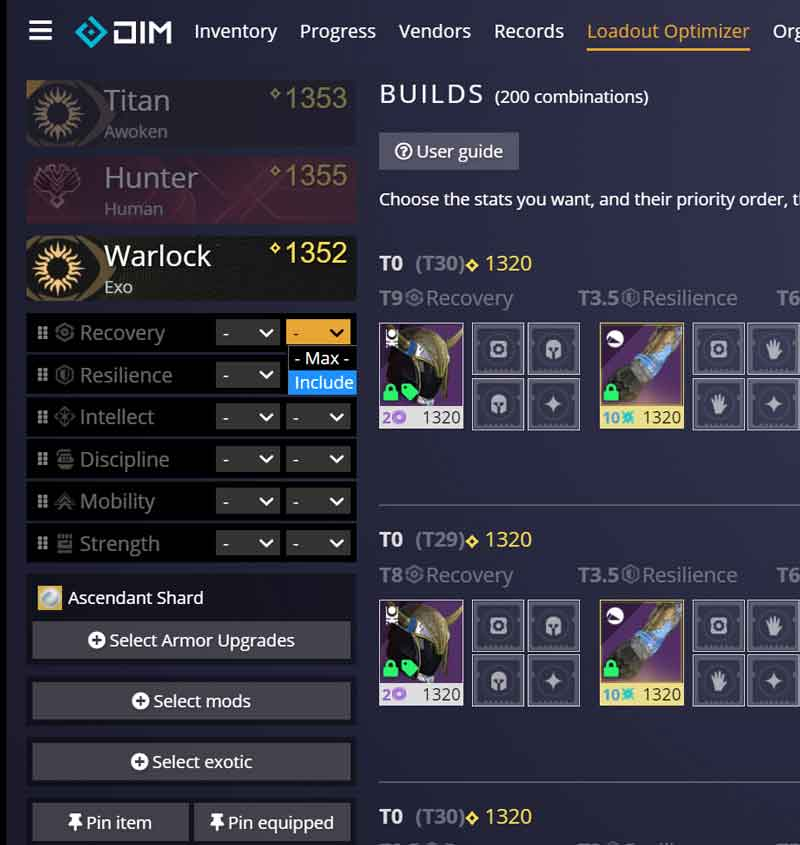 Destiny Item Manager Armor Stat Include Vault Cleaning 101